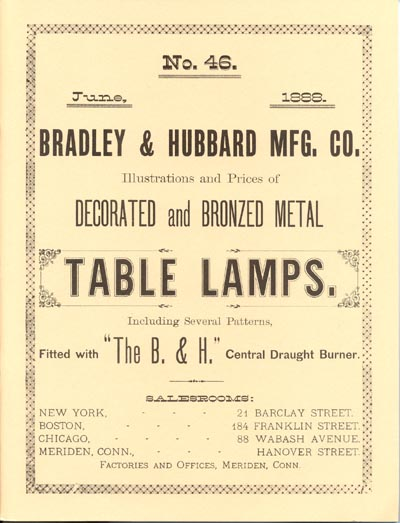 Bradley And Hubbard Manufacturing Company The Lampworks