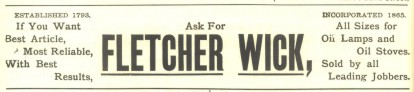 Fletcher Advertisement