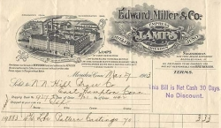 Miller Illustrated Billhead